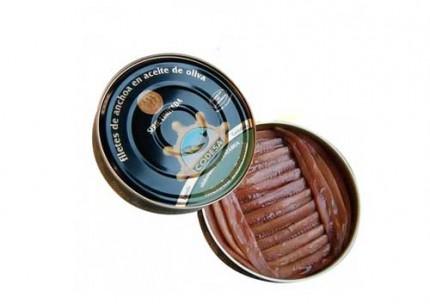 Pandereta de anchoa en aceite vegetal 550gr.