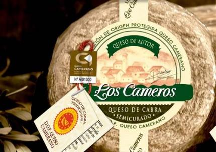 Queso semicurado de cabra 700grs Los Cameros, con D.O Queso Camerano.