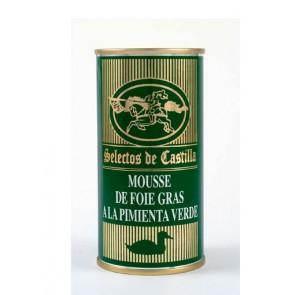 """Mousse Foie Gras a la pimienta verde 200gr. """"Selectos de Castilla""""."""
