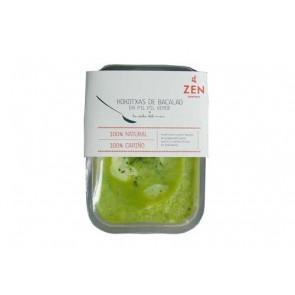 Kokotxas de bacalao en salsa verde Zen Cocina.