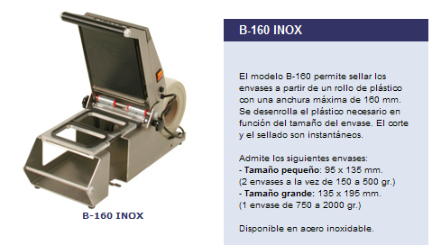 MAQUINA DE TERMOSELLAR INOX B-160